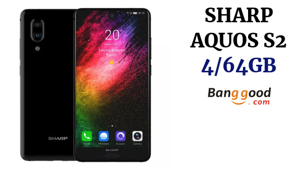 SHARP AQUOS S2(C10) Global Version 5.5 Inch FHD+ NFC Android 8.0 4GB RAM 64GB ROM Snapdragon 630 Octa Core 2.2GHz 4G Smartphone - Black