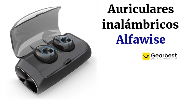 Alfawise V6 TWS Bluetooth 5.0 Wireless Headphones with Hi-Fi Sound Quality with 3000mAh Power Bank