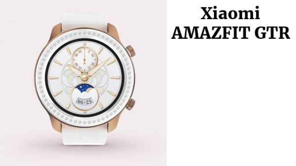 AMAZFIT GTR 42mm Smart Watch Glitter Edition Zirconia from Swarovski 5ATM Waterproof GPS GLONASS 12 Sports Modes 326ppi AMOLED Screen Global Version (Xiaomi Ecosystem Product)