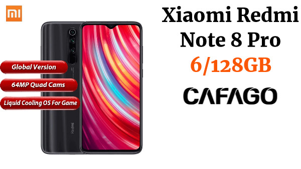 Global Version Xiaomi Redmi Note 8 Pro Mobile Phone 6GB 128GB