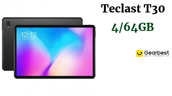Teclast T30 10.1 inch 4G Tablet MTK Helio P70 Octa-core CPU 4GB RAM + 64GB ROM 8.0MP + 5.0MP Camera 8000mAh Battery 5G + 2.4G Dual-band WiFi