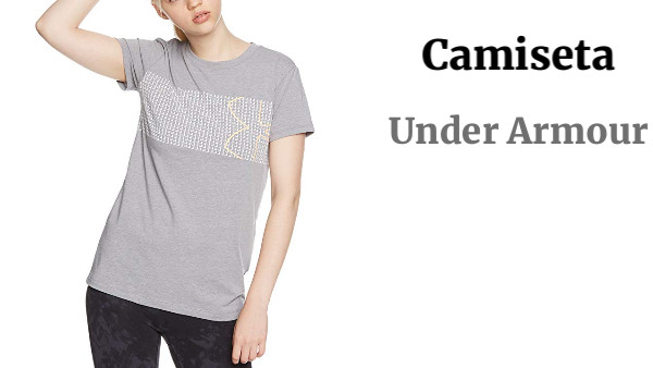 Under Armour Graphic Classic Crew Chest Logo - Camisa Manga Corta Mujer