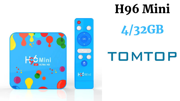 Android 9.0 Smart TV Box H96 Mini Allwinner H6 Quad Core 4GB RAM 32GB ROM 4K Media Player
