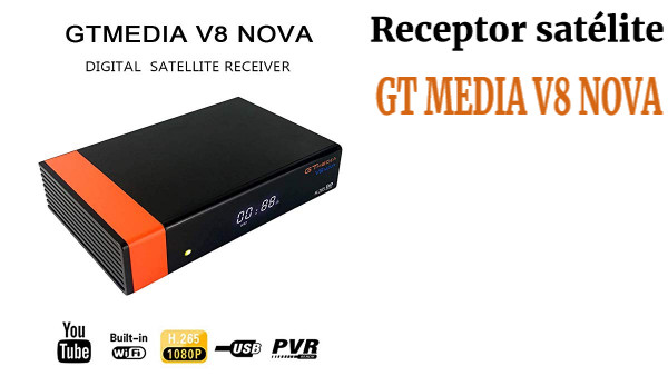 Docooler GTMEDIA V8 Nova DVB-S2 TV Receiver Digital Video Broadcasting Receptor de TV 1080P Set Top Box con WiFi Soporte H.265 EPG para Cccam Newcam Youtube EU Plug