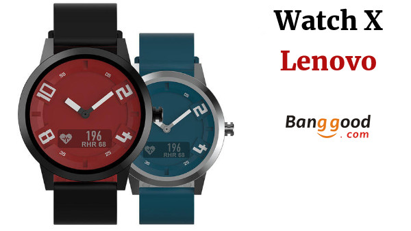 Lenovo Watch X 80M Waterproof Sapphire Glass 45 Days Standby OLED Screen Heart Rate Monitor Smart Watch  - White