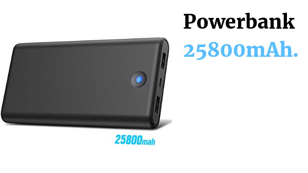Powerbank 25800mAh 2 USB
