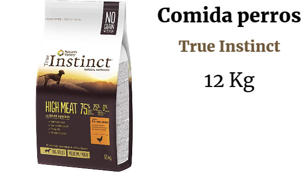 True Instinct High Meat Pienso para Perros Medium-Maxi Adulto con Pollo - 12 kg