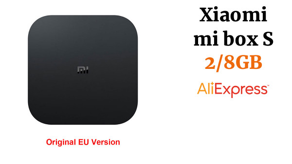 Xiaomi mi box S 4K TV caja Cortex-A53 Quad Core de 64 bits Mali-450 1000Mbp Android 8,1 2GB + 8GB HD mi 2,0 WiFi BT4.2 último