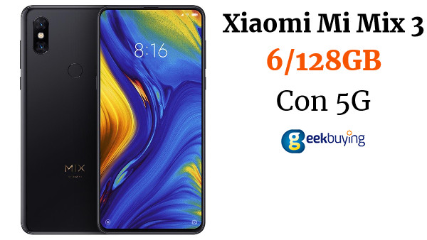 Xiaomi Mi Mix 3 5G Smartphone 6.39 Inch Snapdragon 855 6GB 128GB 12.0MP+12.0MP Dual Rear Cameras MIUI 10 Ceramic Body NFC QC4+ Wired Quick Charge Global Version - Black