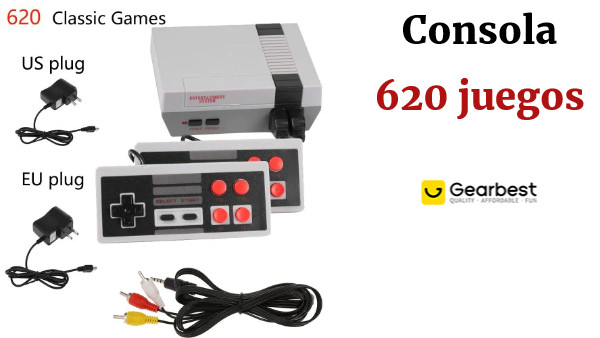 Mini TV Video Game Console Handheld Family Recreation Game Dual AV Port Built-in 620 Classic Games