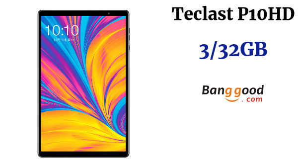 Teclast P10HD SC9863A Octa Core 3GB RAM 32GB ROM 4G LTE 1920 x 1200 FHD GPS Android 9.0 10.1 Inch Tablet PC - EU Version
