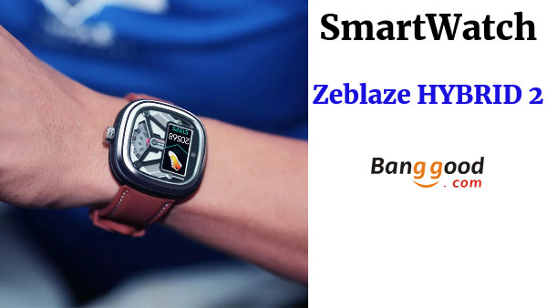 Zeblaze HYBRID 2 Absolute Toughness Heart Rate Blood Pressure Monitor Female Health Tracking Dual Modes Smart Watch - Brown