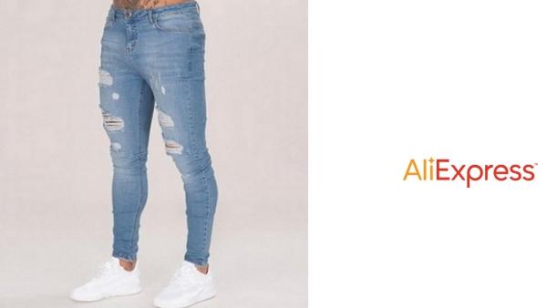 Dihope 2020 Nuevos Vaqueros De Color Solido Para Hombre 2019 Nueva Moda Pantalones De Lapiz Ajustados Sexy Casual Agujero Rasgado Diseno Streetwear Vadegangas