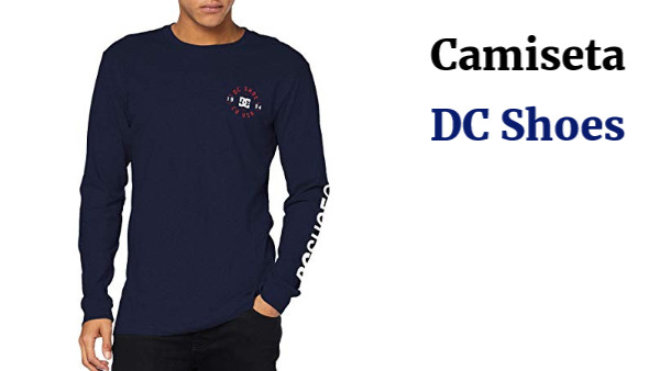 DC Shoes Tag Team LS-Camiseta de Manga Larga para Hombre