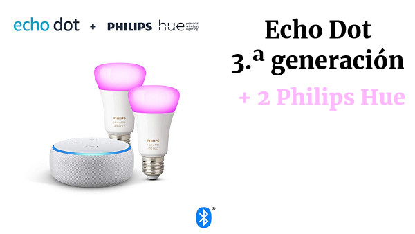Echo Dot +Philips Hue Pack 2