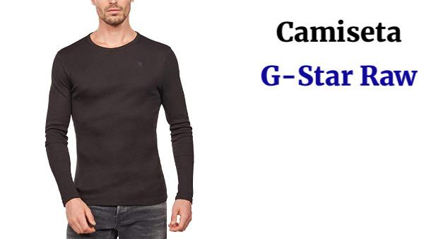 G-Star Raw Base R T L//S 1-Pack Camisa Manga Larga para Hombre