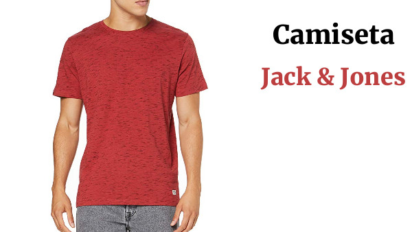 JACK & JONES Jormachine tee SS Crew Neck Camiseta para Hombre