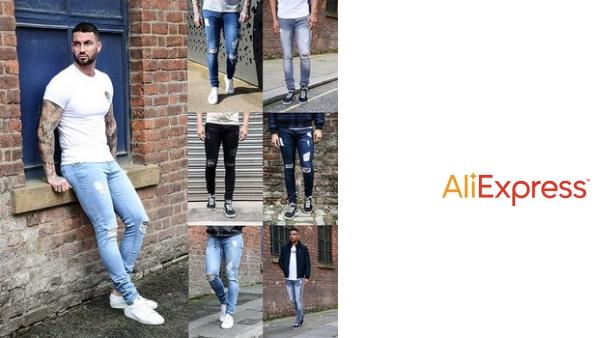Nuevos Pantalones Vaqueros Para Hombre Ajustados Ajustados De Diseno Azul Para Hombre Agujeros Rotos Con Estilo Clasico Negro Pantalon Pantalones Elasticos Vintage Vadegangas