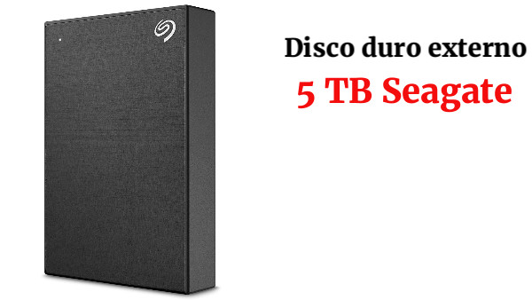 Seagate Backup Plus Portable 5 TB, Disco duro externo portátil de 2,5 pulgadas para PC y Mac, USB 3.0