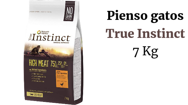 True Instinct High Meat - Pienso para Gato Adulto con Pollo campero deshuesado - 7 kg