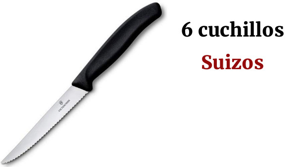 Negro Mediano Victorinox Cuchillo