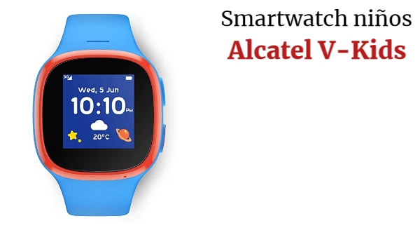 Alcatel V-Kids Watch by Vodafone Reloj Inteligente para niños con V-SIM incluida