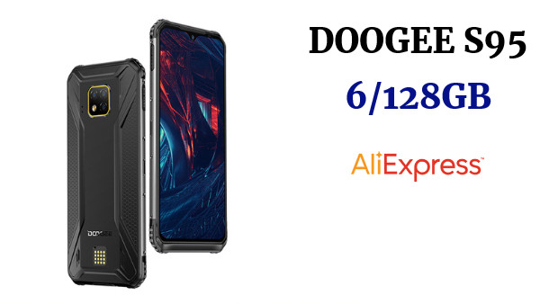 DOOGEE S95  6GB 128GB 48MP Triple Cámara Android 9,0 de 5150mAh