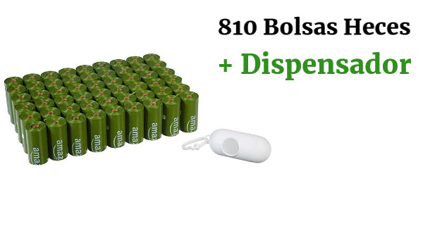 Pack 810 Bolsas Heces Perro +Dispensador