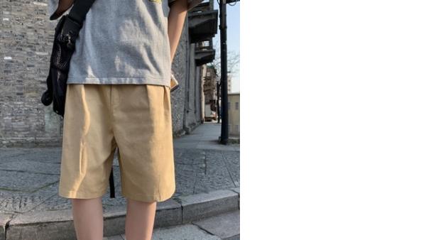 Pantalones Cortos Casuales Para Hombre 2020 Primavera Y Novedad De Verano Pantalones Cortos Holgados De Cinco Puntos De Color Solido A La Moda Para Jovenes Vadegangas