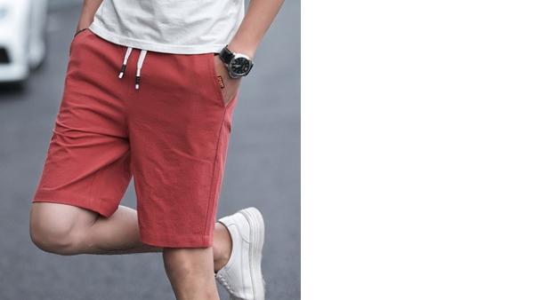 Pantalones Cortos Casuales De Moda De Verano Para Hombre Pantalones Sueltos De Algodon Pantalones De 5 Puntos Pantalones De Playa Pantalones De Color Puro Pantalones De 5 Puntos Vadegangas