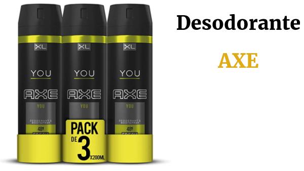3 desodorantes XL AXE You