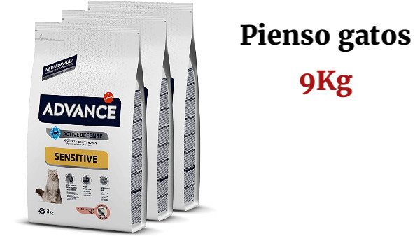 Advance Sensitive - Pienso para Gatos con Sensibilidades Digestivas - Pack De 3 x 3kg - Total 9kg