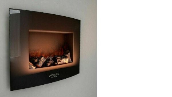 Chimenea electrica decorativa de pared CECOTEC Ready Warm 2200 Curved Flames