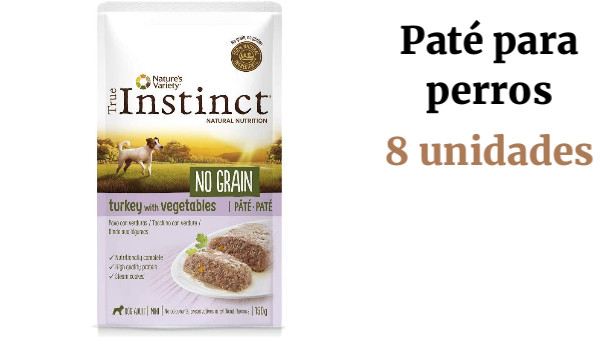 True Instinct No Grain Mini Paté de Pavo para Perros 150 gr - Pack de 8