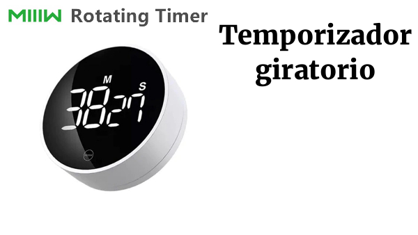 Miiiw-Temporizador giratorio, pantalla Digital LED magnética ajustable, brillo, alarma, cocina, Simple, portátil