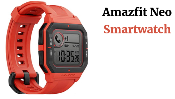 Amazfit Neo - Smartwatch Orange, Rojo