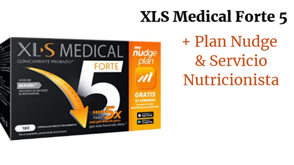 XLS Medical Forte 5 + Plan Nudge & Servicio Nutricionista Gratis