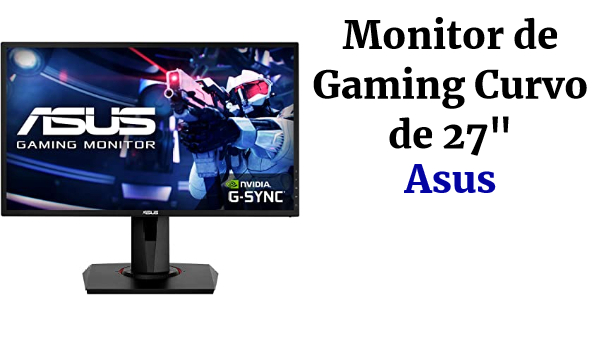 "ASUS VG27VQ - Monitor de Gaming Curvo de 27"" (Full HD, 165 Hz, 1ms MPRT, Extreme Low Motion Blur, Adaptive-sync, FreeSync Premium technology) negro"