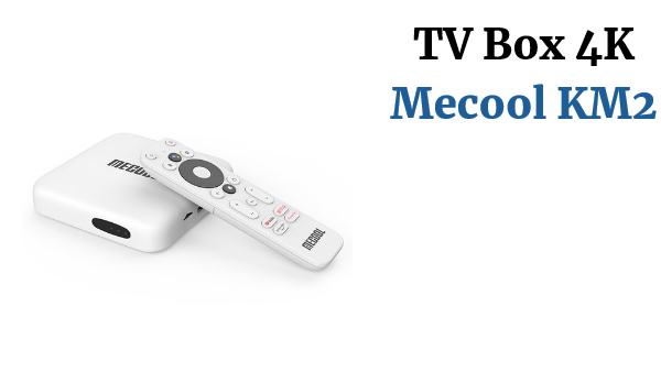 Mecool KM2  Youtube Netflix TV Box Android 10 Google Certified 2GB RAM 4K Dolby  BT4.2 Dual Wifi  Prime Video  Media Player  with 500000+ movies & TV epiodes, Google Voice Assistant  and  Chromecast