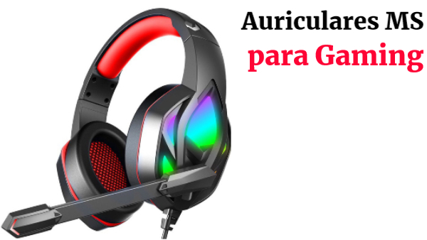 Auriculares gaming RGB MS