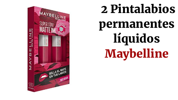 Maybelline New York, SuperStay Matte Ink, Cofre 2 Pintalabios Permanentes Líquidos de Larga Duración, Efecto Mate, Maquillajes Labiales, Tono 150 Path Finder - 2 Unidades, 10 ml